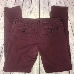 American Eagle Outfitters Jeans - American Eagle Burgundy Skinny Jeans